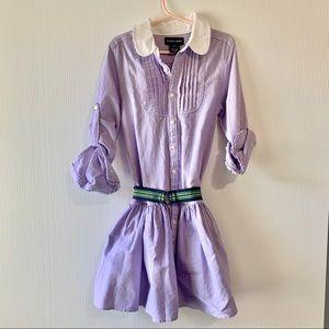 🌈 Ralph Lauren girls button down shirt dress 6x